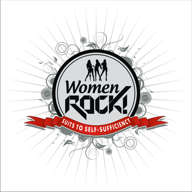 Logo Design by key - Entry No. 76 in the Logo Design Contest Women ROCK! - Dress for Success Pittsburgh.