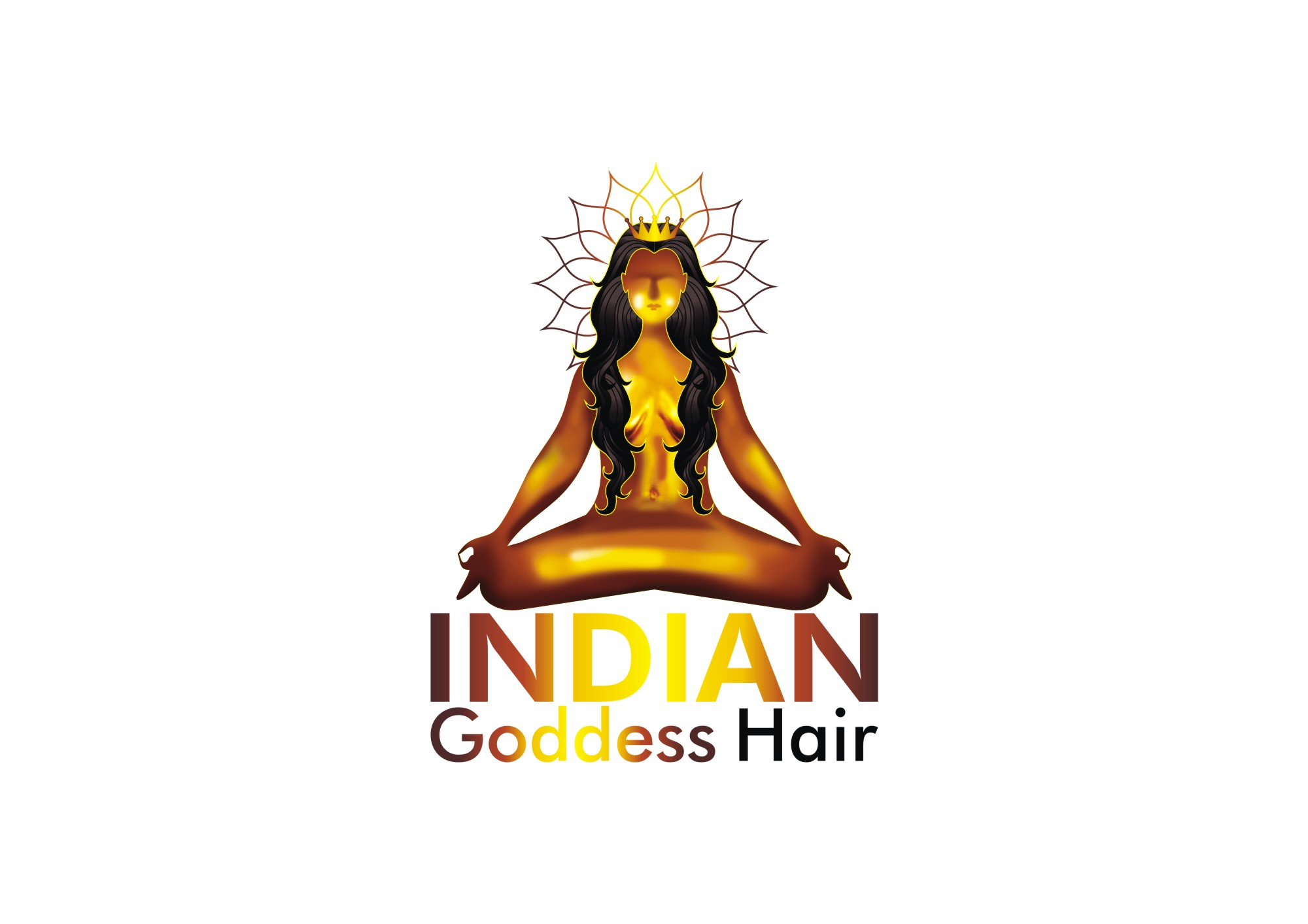 Logo Design by Private User - Entry No. 12 in the Logo Design Contest Indian Goddess Hair LOGO DESIGN.