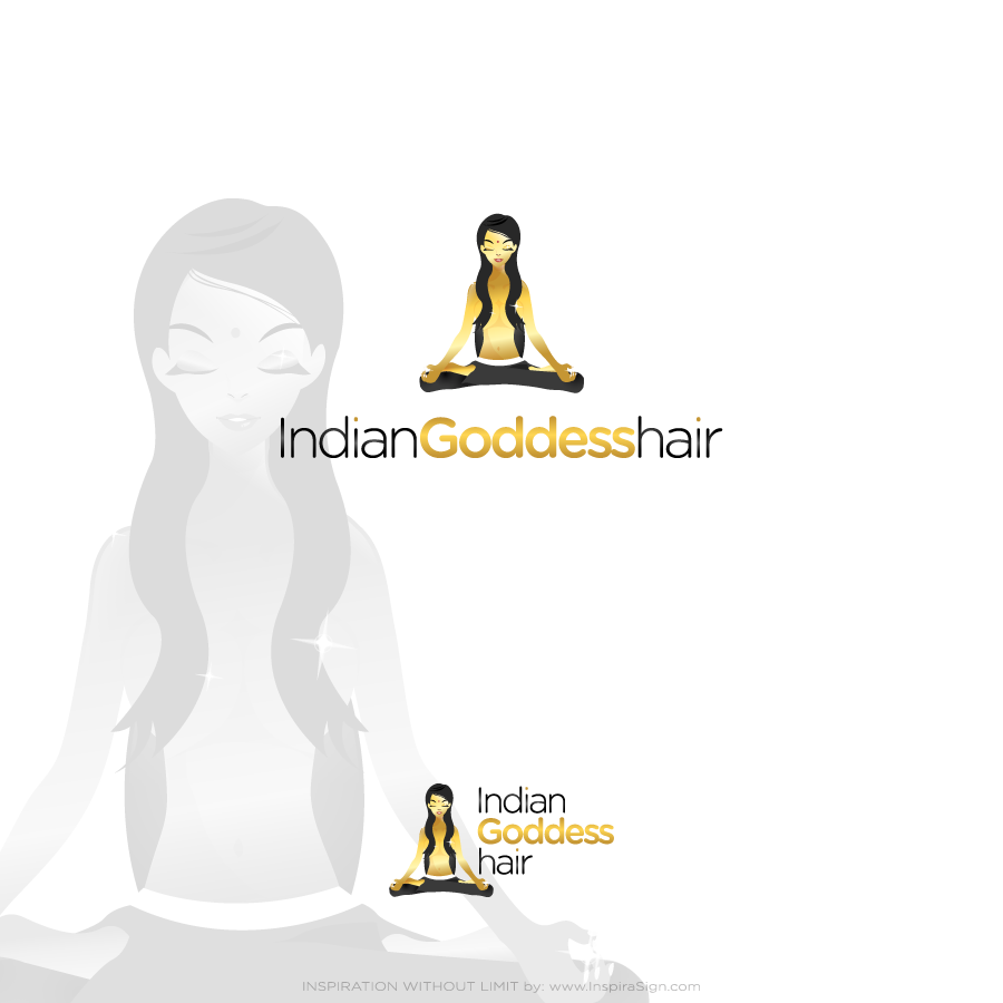 Logo Design by InspiraSign - Entry No. 13 in the Logo Design Contest Indian Goddess Hair LOGO DESIGN.
