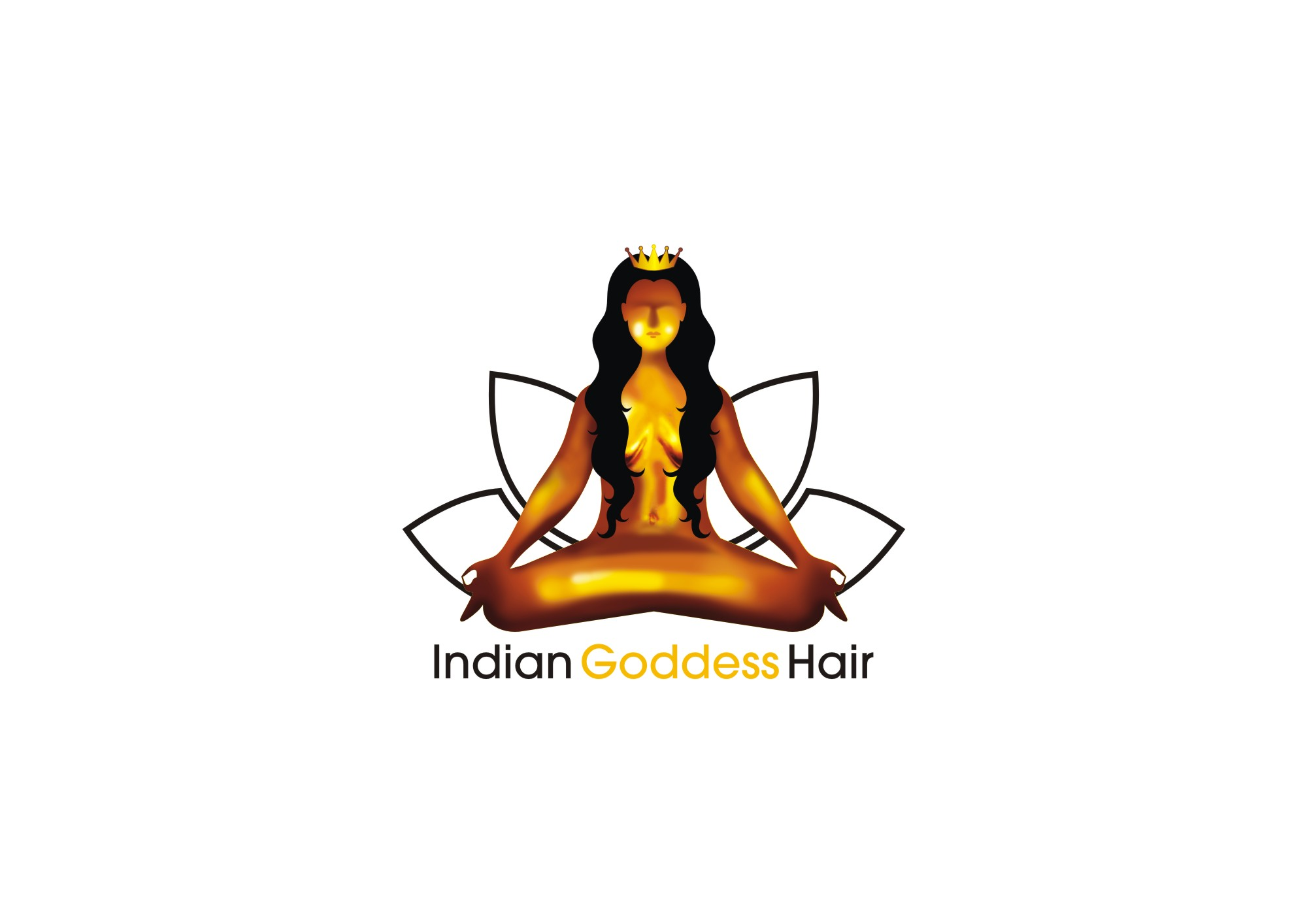 Logo Design by Private User - Entry No. 14 in the Logo Design Contest Indian Goddess Hair LOGO DESIGN.