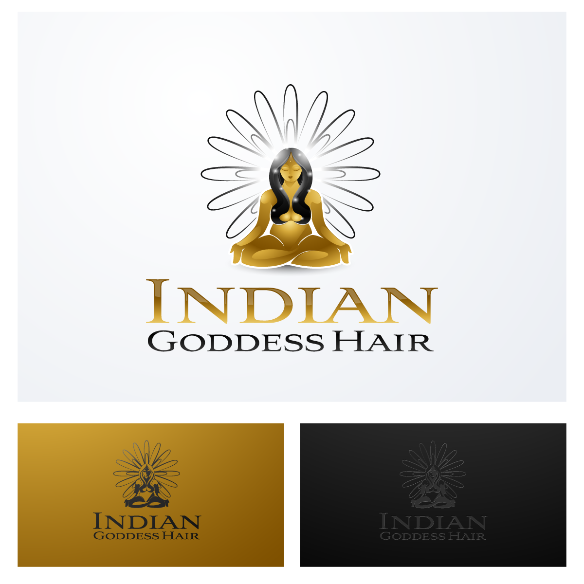 Logo Design by zesthar - Entry No. 15 in the Logo Design Contest Indian Goddess Hair LOGO DESIGN.