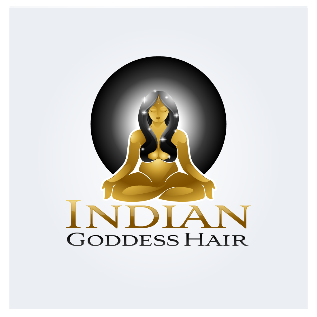 Logo Design by zesthar - Entry No. 16 in the Logo Design Contest Indian Goddess Hair LOGO DESIGN.