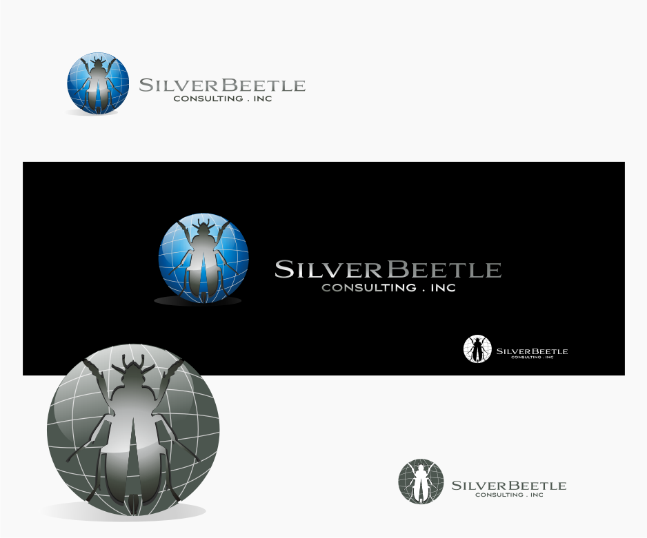 Logo Design by graphicleaf - Entry No. 6 in the Logo Design Contest Silver Beetle Consulting Inc. Logo Design.