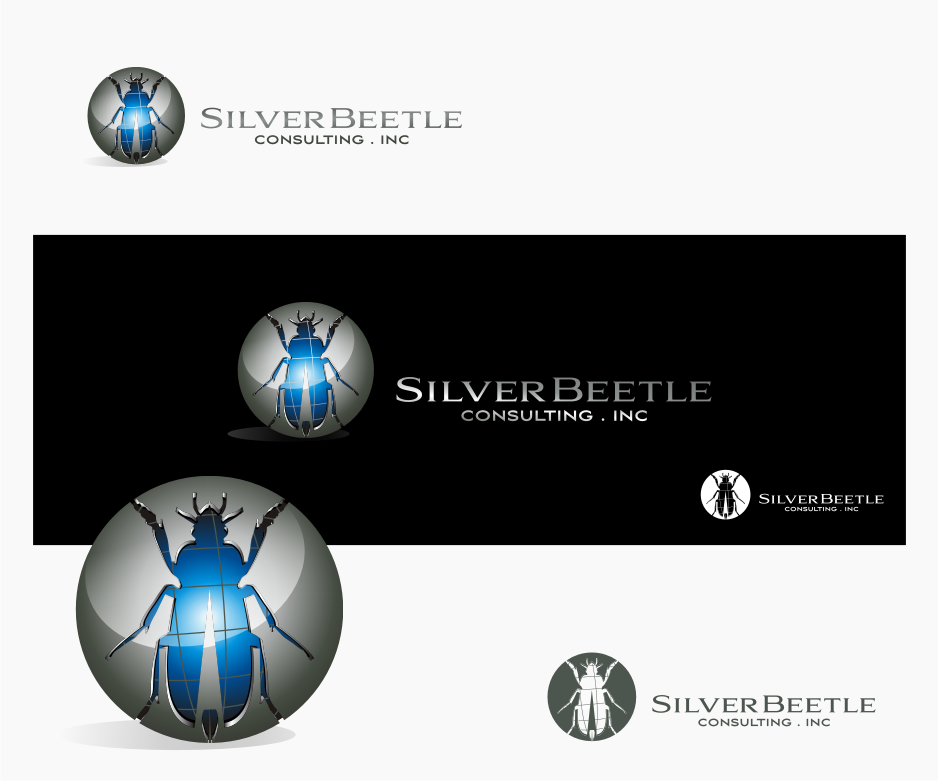 Logo Design by graphicleaf - Entry No. 7 in the Logo Design Contest Silver Beetle Consulting Inc. Logo Design.
