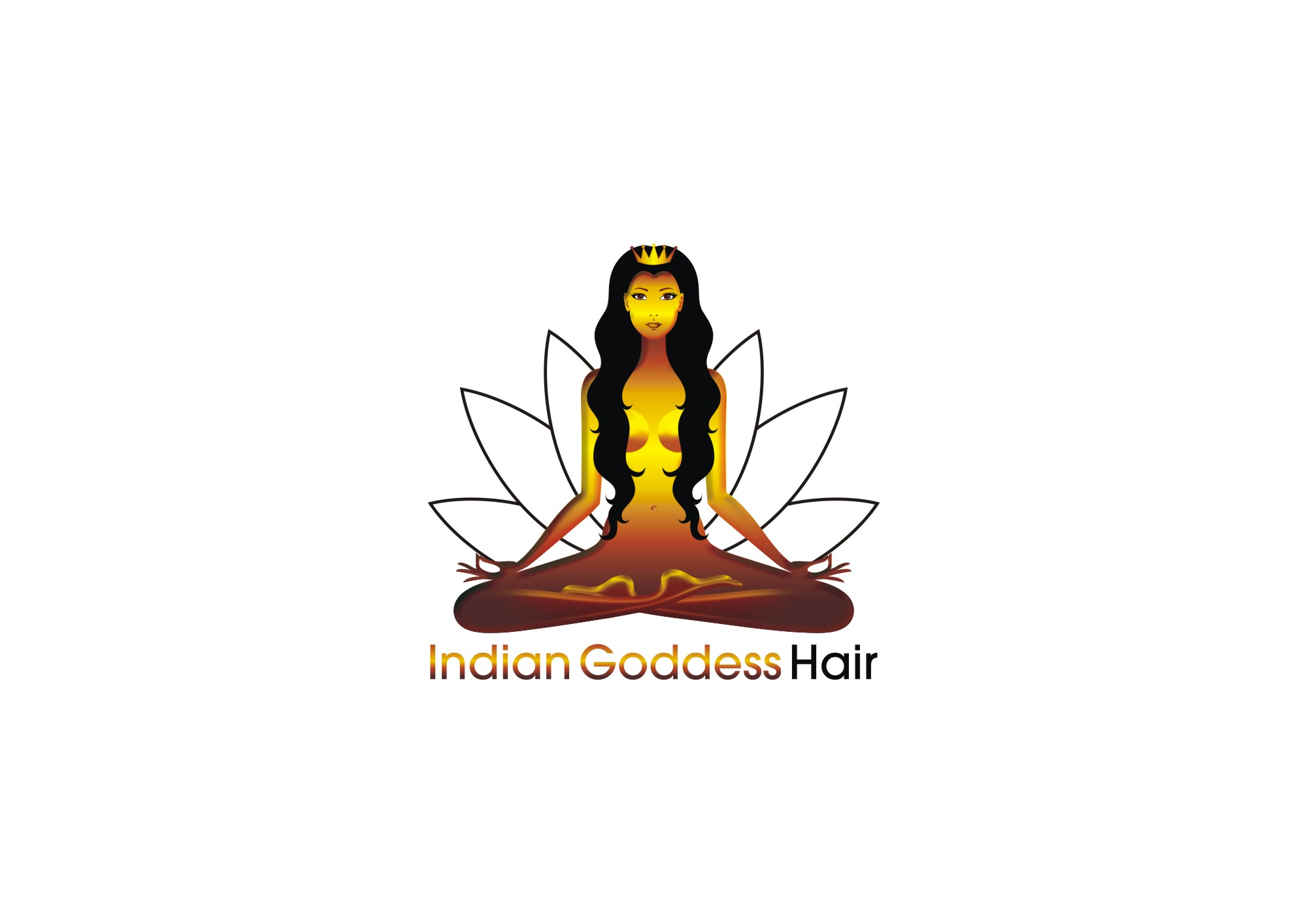 Logo Design by Private User - Entry No. 17 in the Logo Design Contest Indian Goddess Hair LOGO DESIGN.