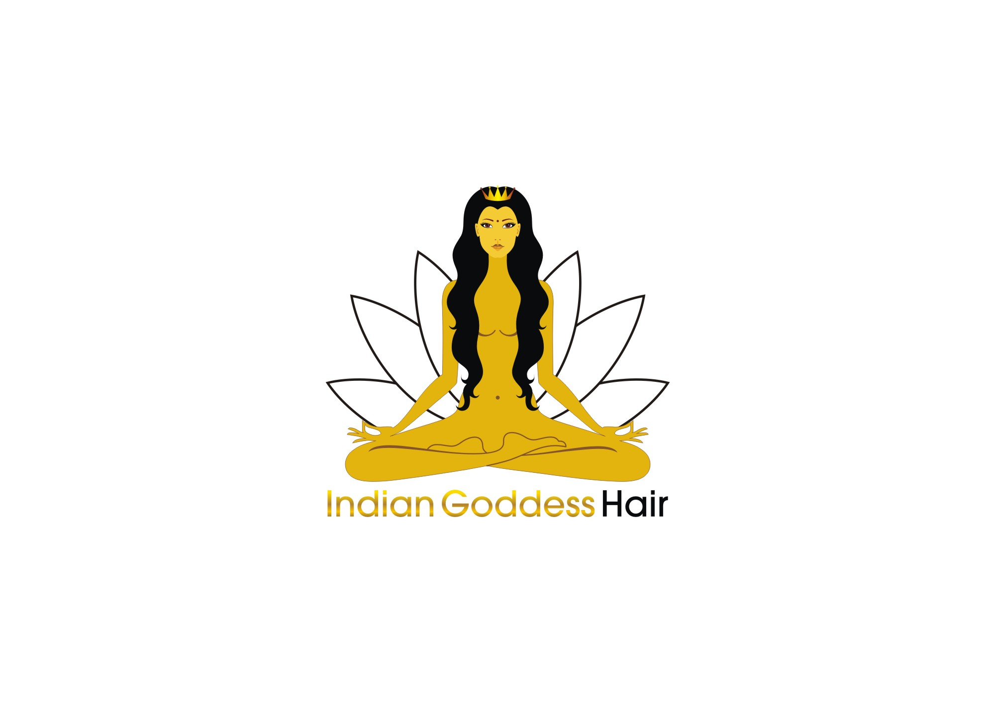 Logo Design by Private User - Entry No. 18 in the Logo Design Contest Indian Goddess Hair LOGO DESIGN.