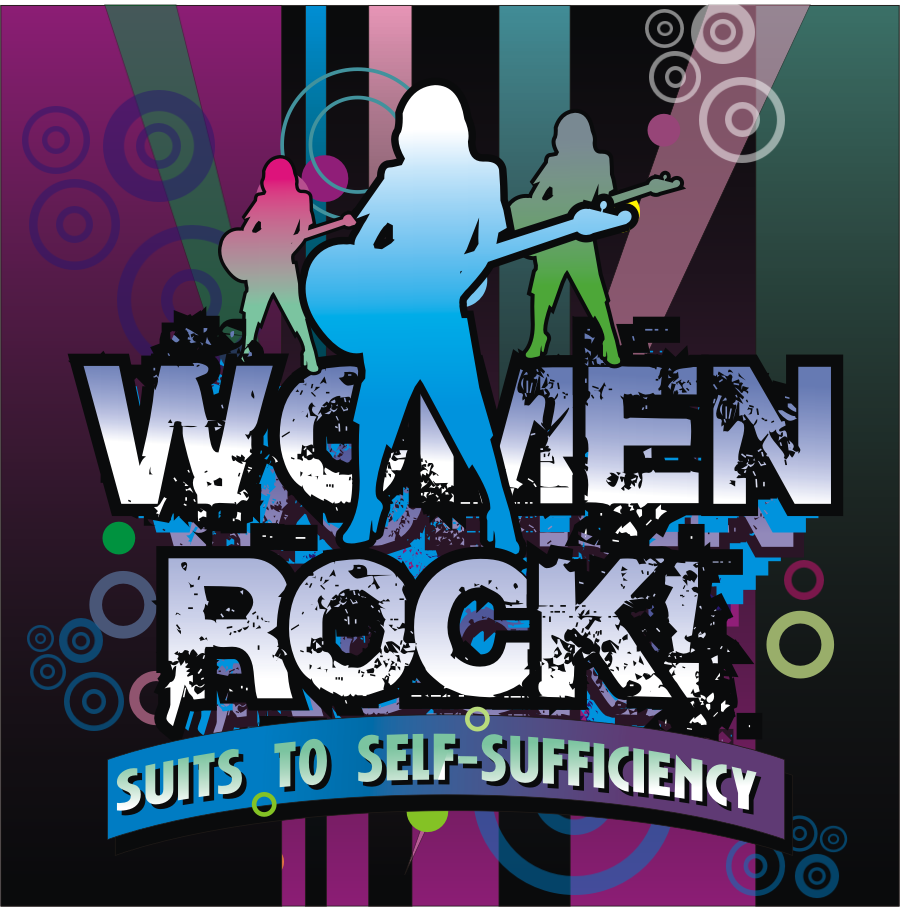 Logo Design by montoshlall - Entry No. 78 in the Logo Design Contest Women ROCK! - Dress for Success Pittsburgh.
