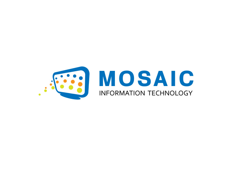 Logo Design by ddamian_dd - Entry No. 51 in the Logo Design Contest Mosaic Information Technology Logo Design.