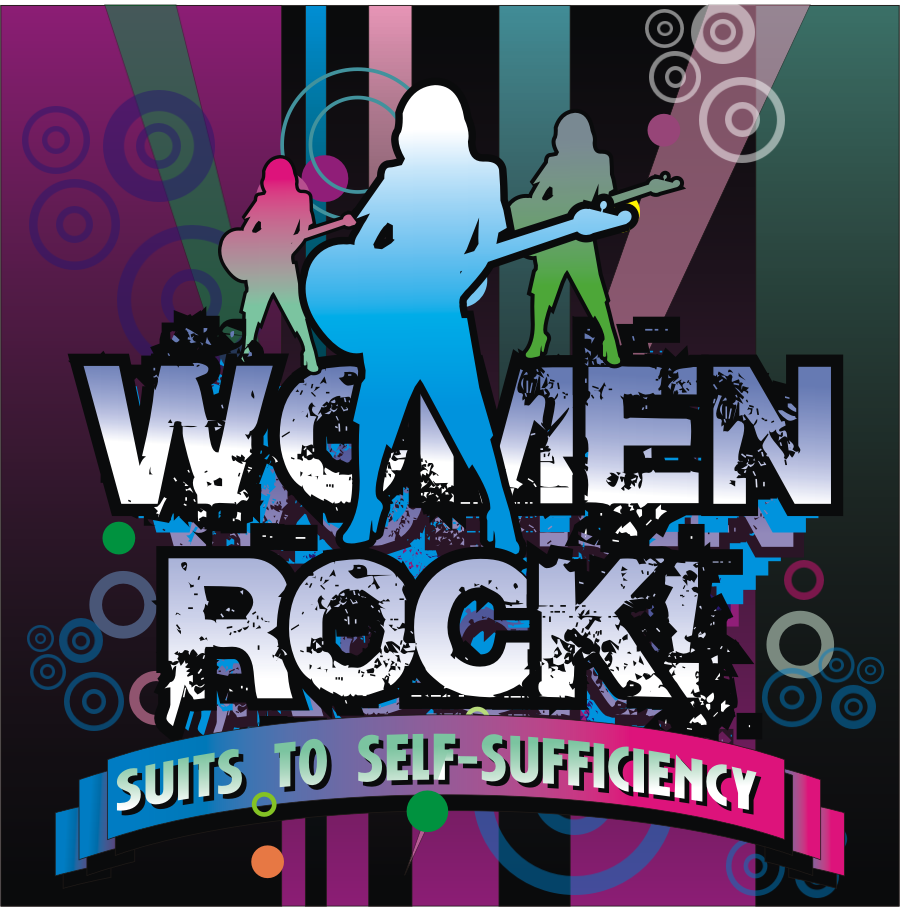 Logo Design by montoshlall - Entry No. 79 in the Logo Design Contest Women ROCK! - Dress for Success Pittsburgh.