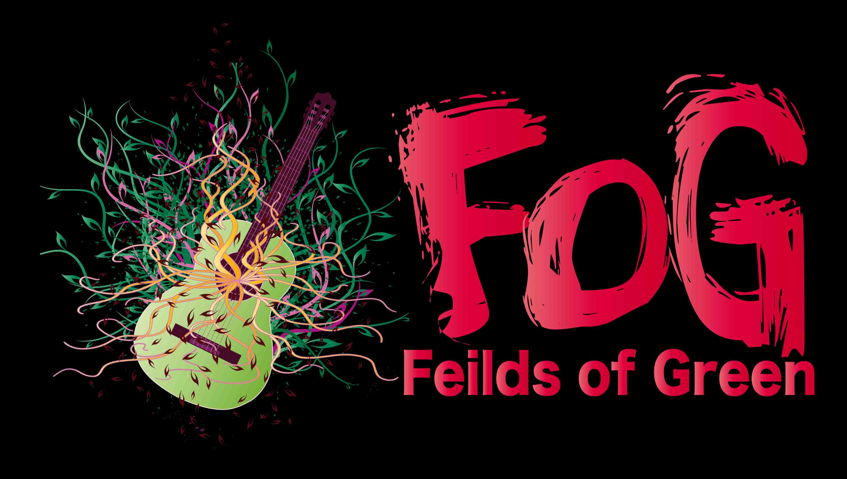 Logo Design by Aj Ong - Entry No. 4 in the Logo Design Contest Psych-Rock Band FIELDS OF GREEN Logo Design.