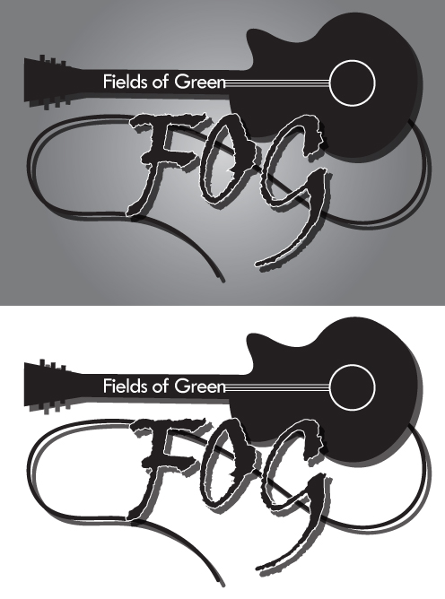 Logo Design by Genesis Orland Colendres - Entry No. 6 in the Logo Design Contest Psych-Rock Band FIELDS OF GREEN Logo Design.