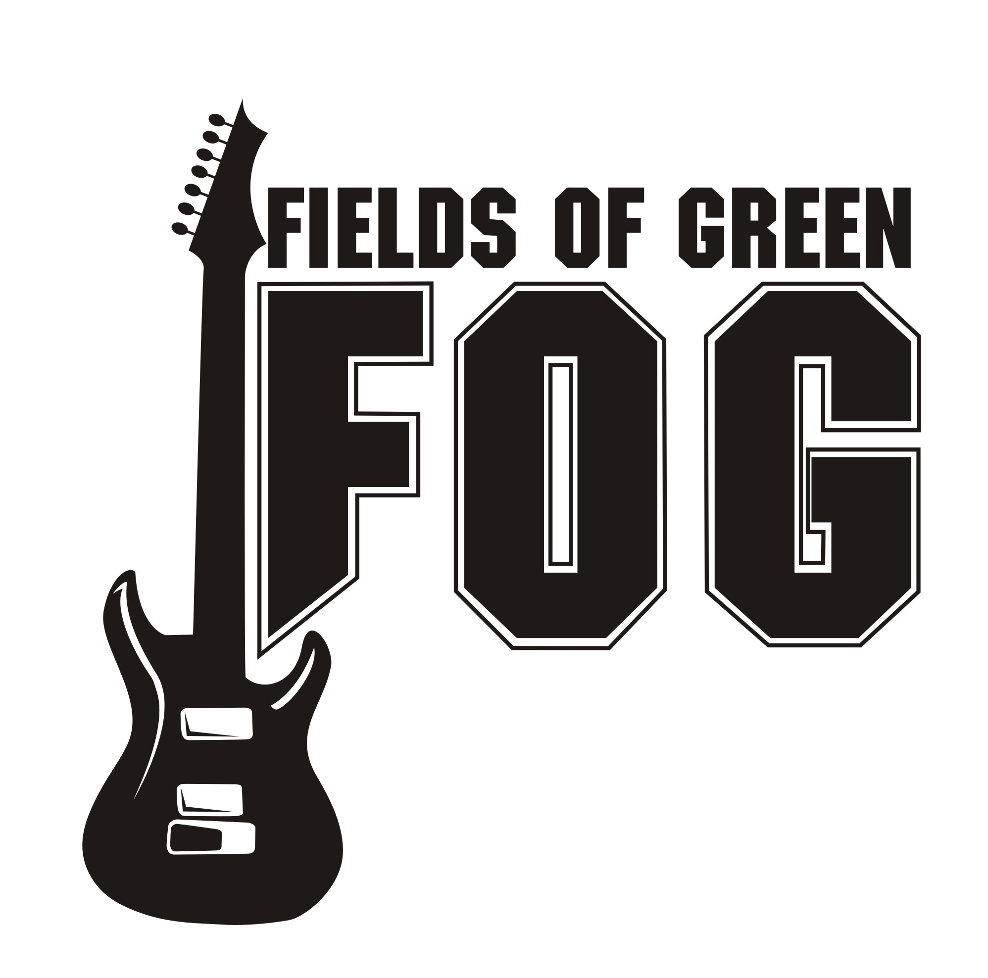 Logo Design by Private User - Entry No. 7 in the Logo Design Contest Psych-Rock Band FIELDS OF GREEN Logo Design.