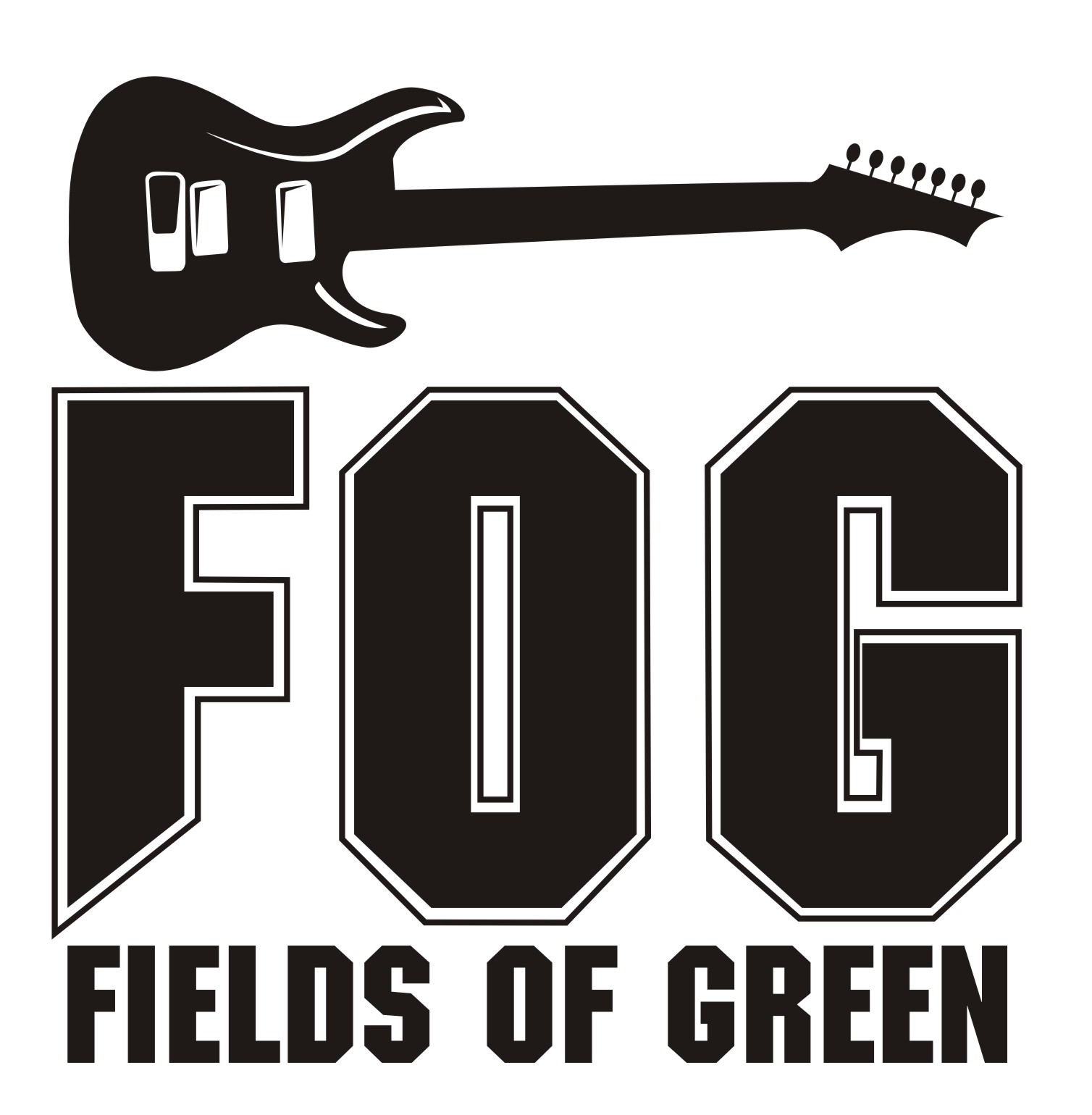 Logo Design by Private User - Entry No. 10 in the Logo Design Contest Psych-Rock Band FIELDS OF GREEN Logo Design.