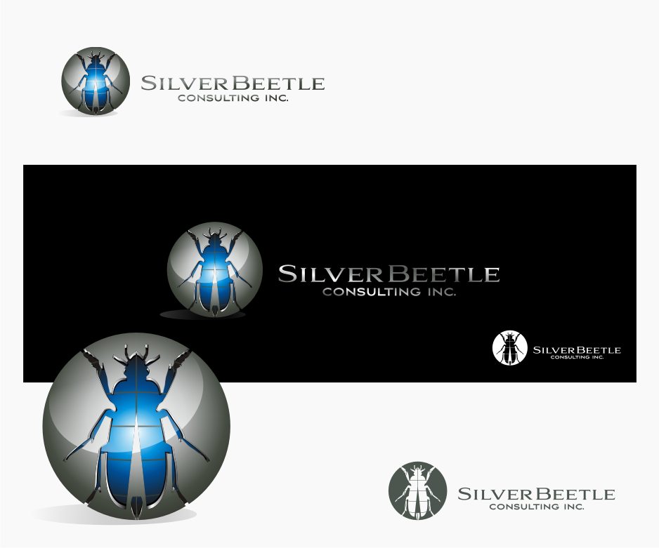 Logo Design by graphicleaf - Entry No. 21 in the Logo Design Contest Silver Beetle Consulting Inc. Logo Design.