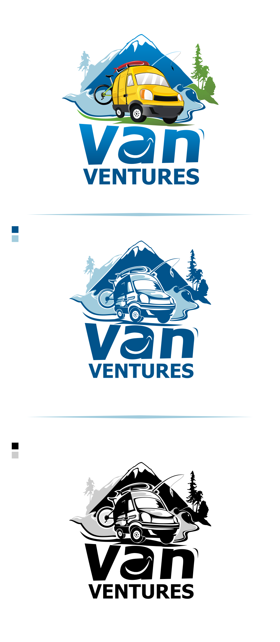 Logo Design by Mitchnick Sunardi - Entry No. 71 in the Logo Design Contest New Logo Design for Van Ventures.