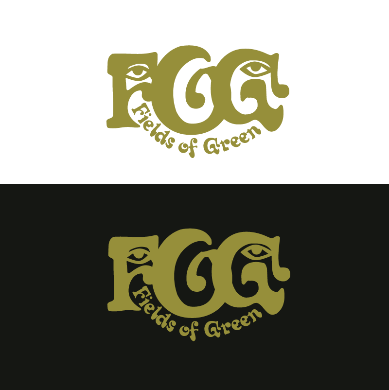 Logo Design by Peter Grubb - Entry No. 24 in the Logo Design Contest Psych-Rock Band FIELDS OF GREEN Logo Design.