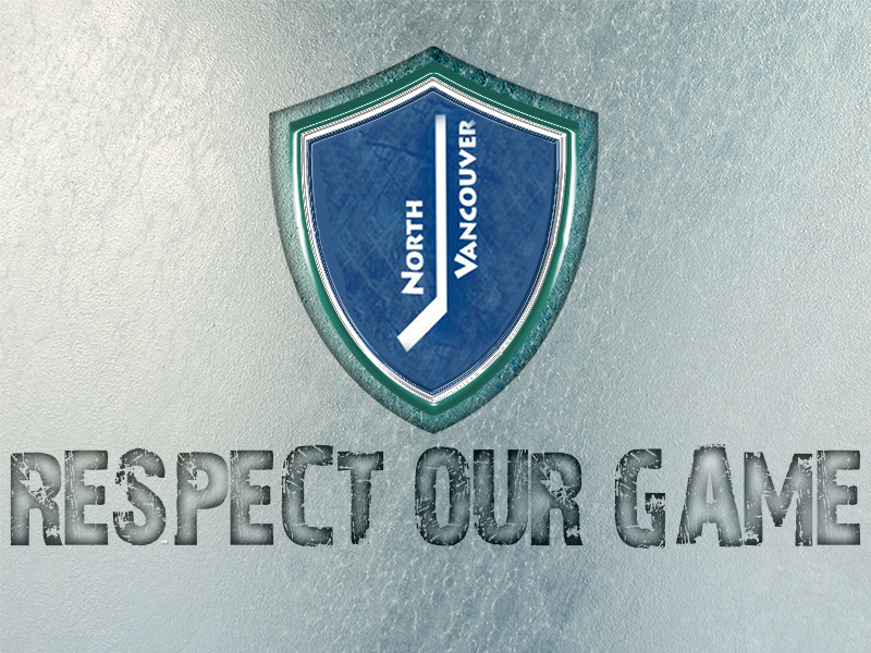 Logo Design by Mythos Designs - Entry No. 29 in the Logo Design Contest Respect our game - North Van Minor Hockey Logo Design.