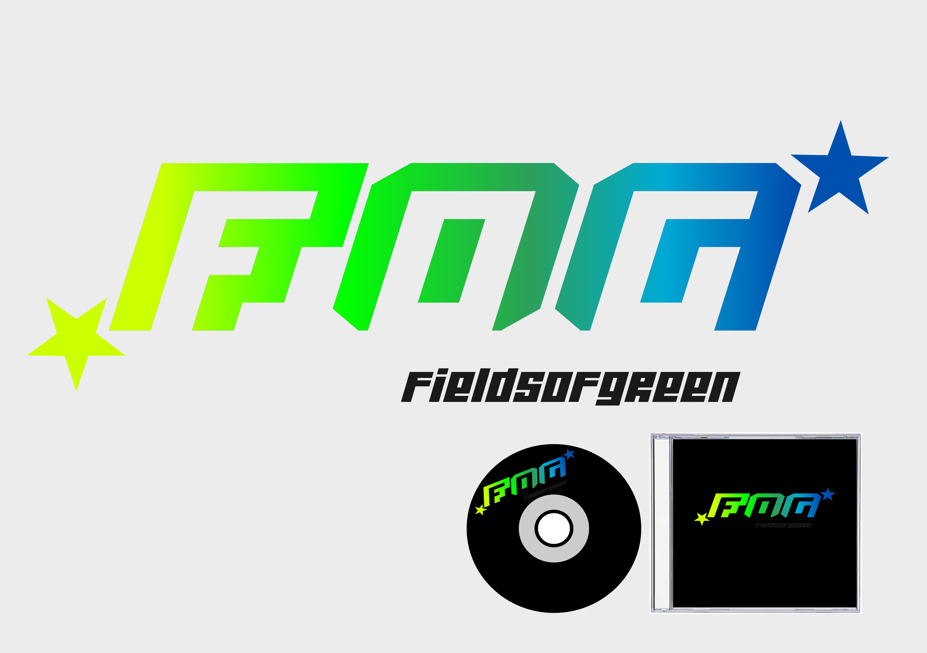 Logo Design by whoosef - Entry No. 35 in the Logo Design Contest Psych-Rock Band FIELDS OF GREEN Logo Design.
