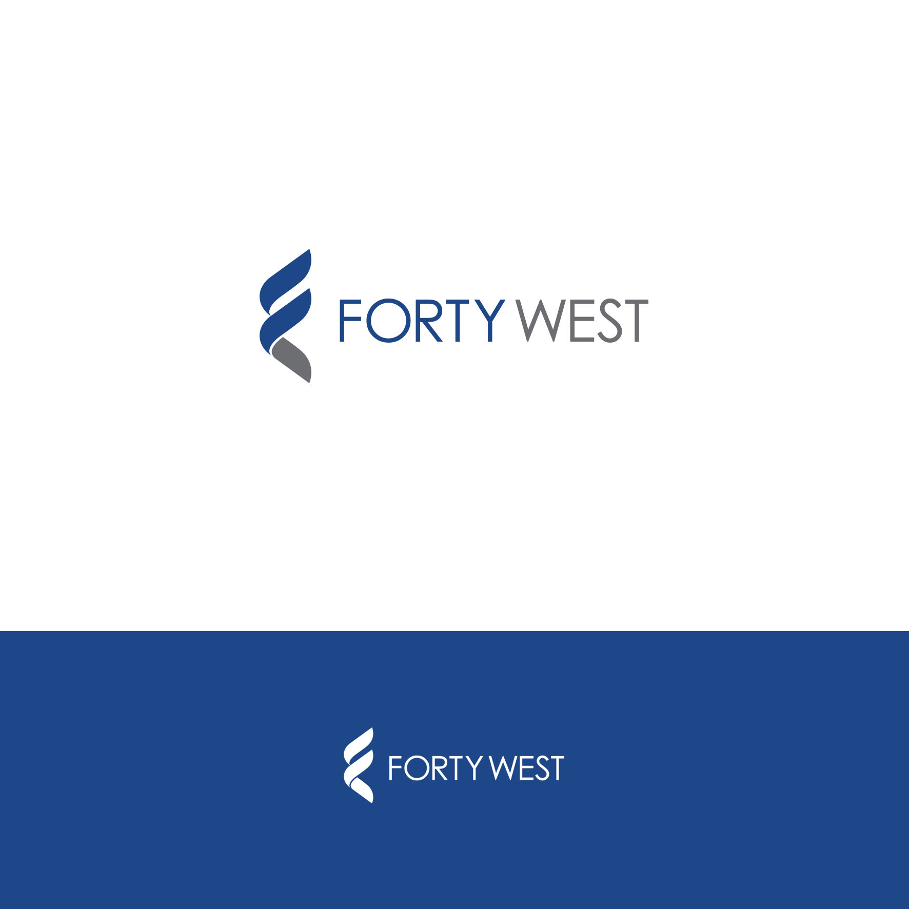 Logo Design by tanganpanas - Entry No. 48 in the Logo Design Contest Unique Logo Design Wanted for Forty West.