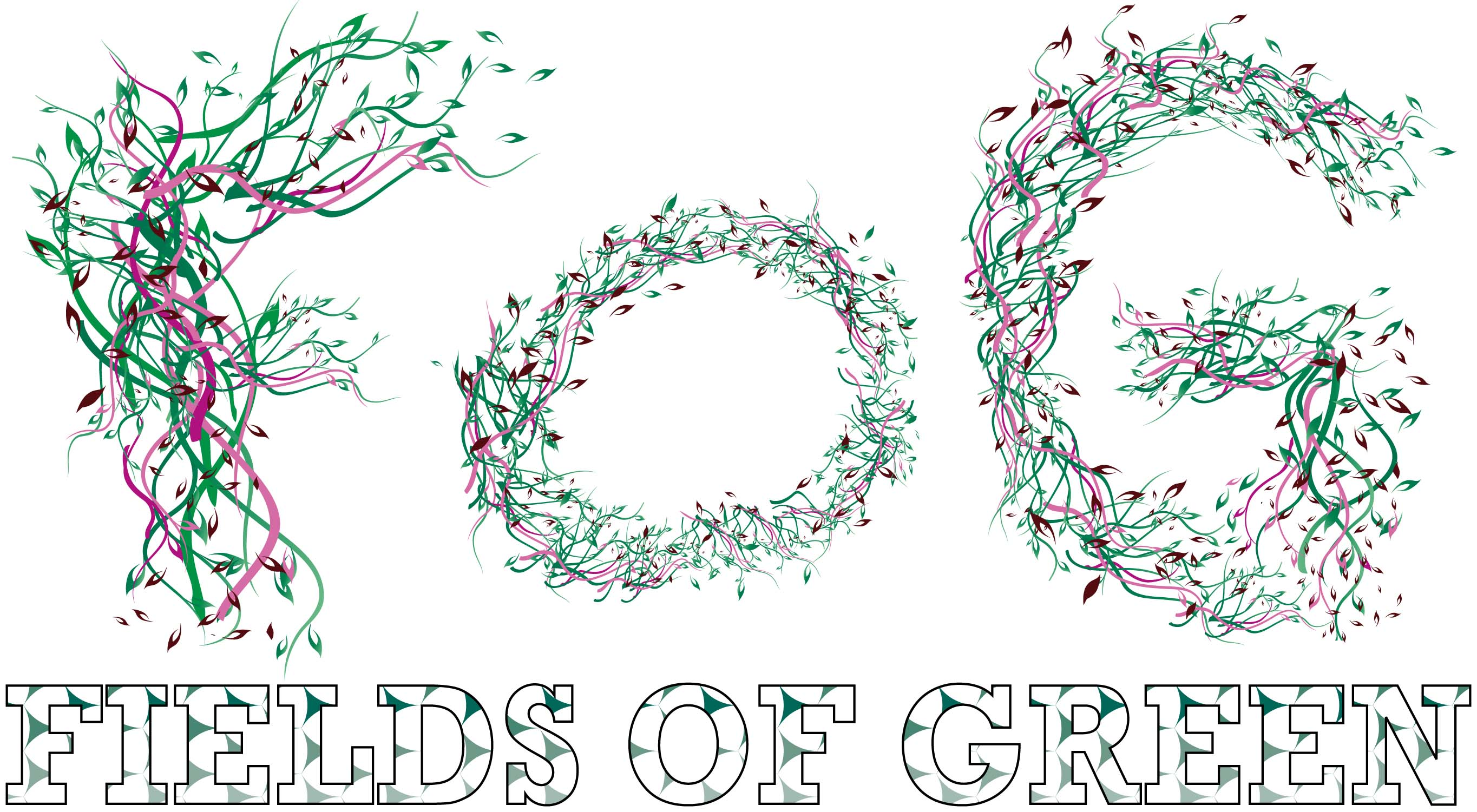 Logo Design by Aj Ong - Entry No. 39 in the Logo Design Contest Psych-Rock Band FIELDS OF GREEN Logo Design.