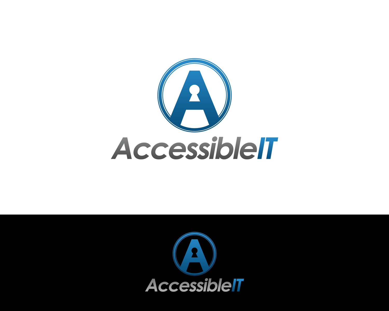 Logo Design by Qoaldjsk - Entry No. 372 in the Logo Design Contest Logo Design Needed for Exciting New Company Accessible IT.
