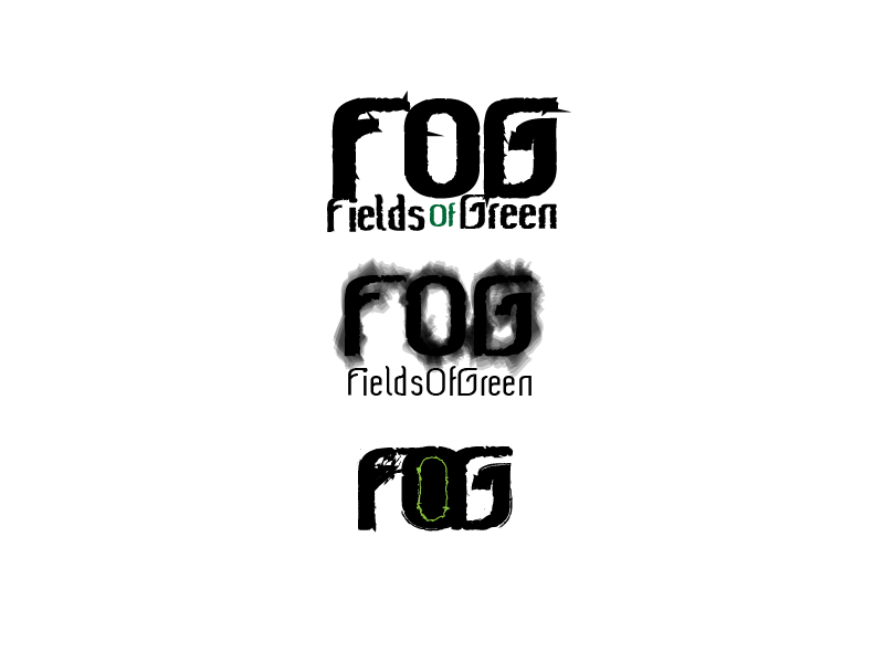 Logo Design by Roland Huse - Entry No. 69 in the Logo Design Contest Psych-Rock Band FIELDS OF GREEN Logo Design.