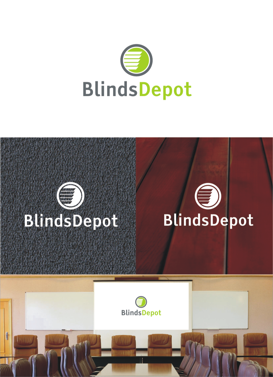Logo Design by Private User - Entry No. 48 in the Logo Design Contest Logo Design Needed for Exciting New Company Blinds Depot.