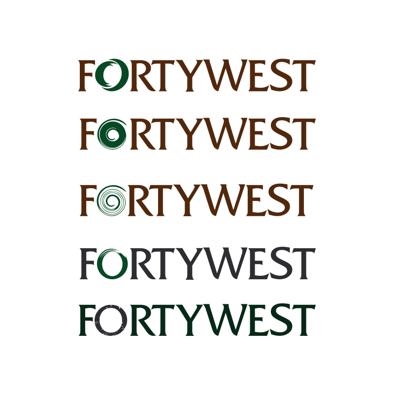 Logo Design by moisesf - Entry No. 85 in the Logo Design Contest Unique Logo Design Wanted for Forty West.