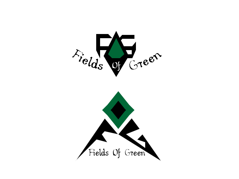 Logo Design by Roland Huse - Entry No. 74 in the Logo Design Contest Psych-Rock Band FIELDS OF GREEN Logo Design.