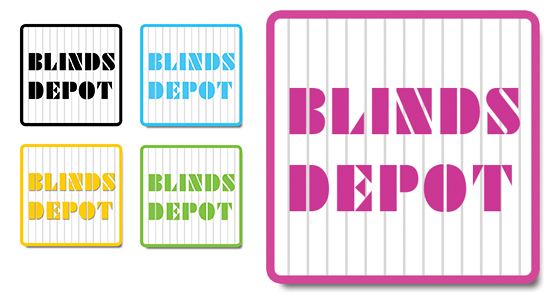 Logo Design by fredkark - Entry No. 52 in the Logo Design Contest Logo Design Needed for Exciting New Company Blinds Depot.