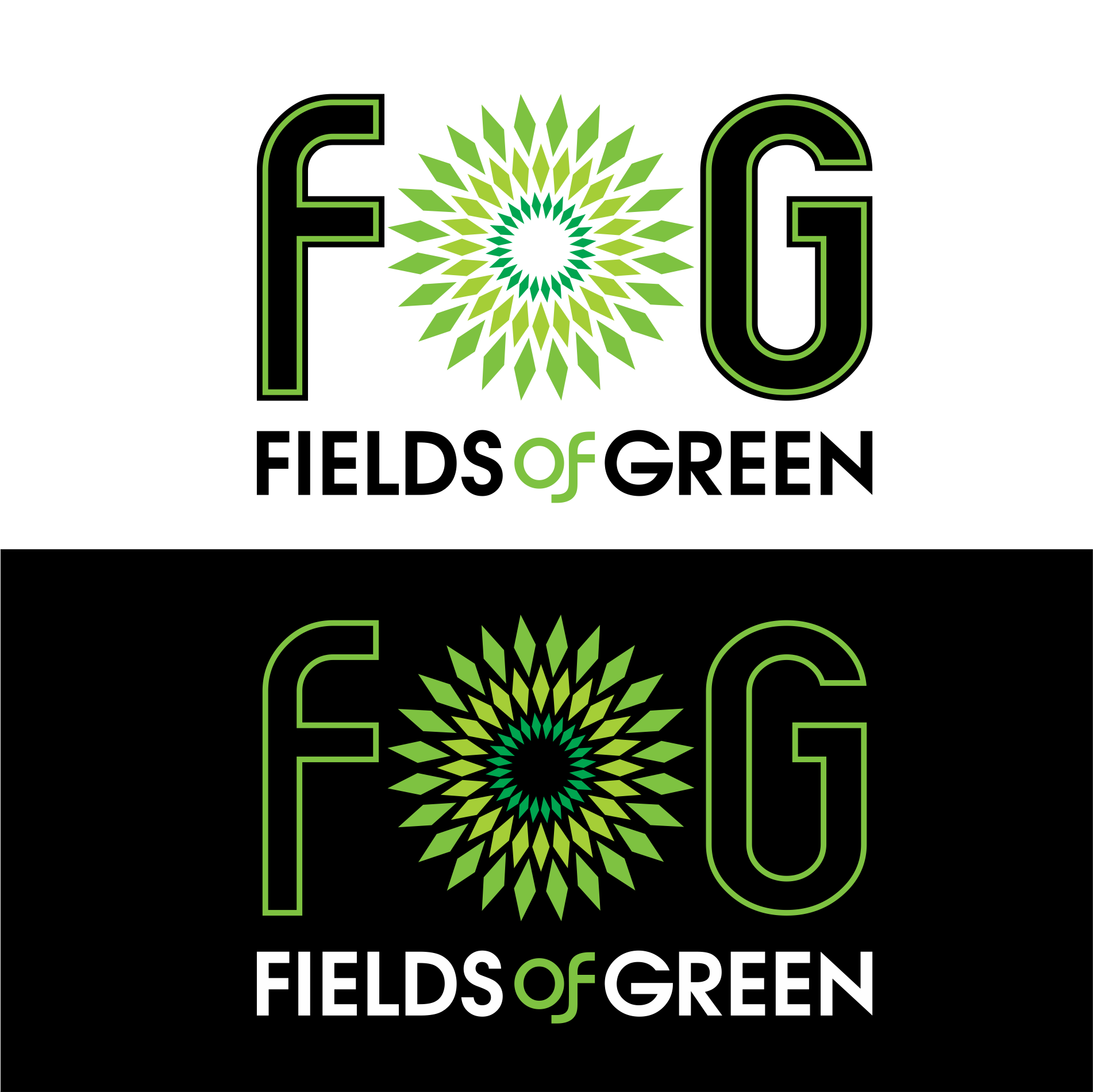 Logo Design by moisesf - Entry No. 80 in the Logo Design Contest Psych-Rock Band FIELDS OF GREEN Logo Design.