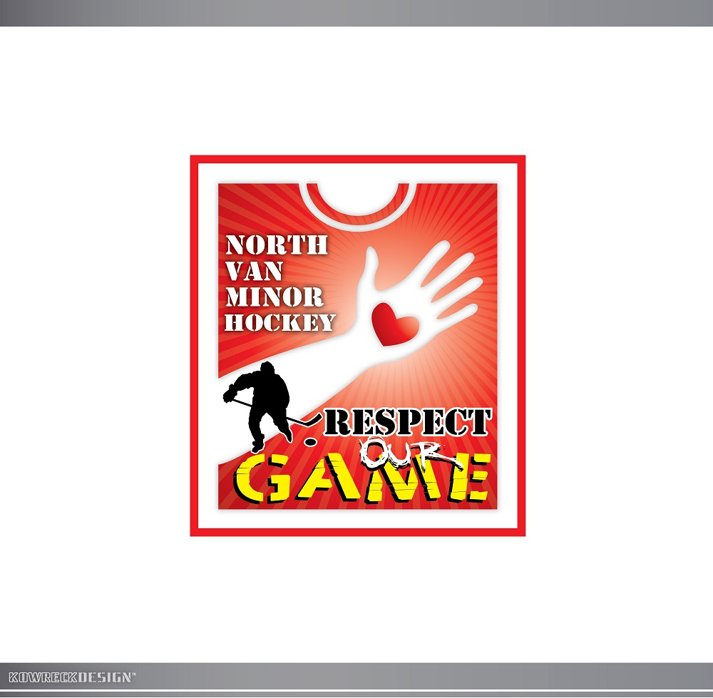 Logo Design by kowreck - Entry No. 41 in the Logo Design Contest Respect our game - North Van Minor Hockey Logo Design.