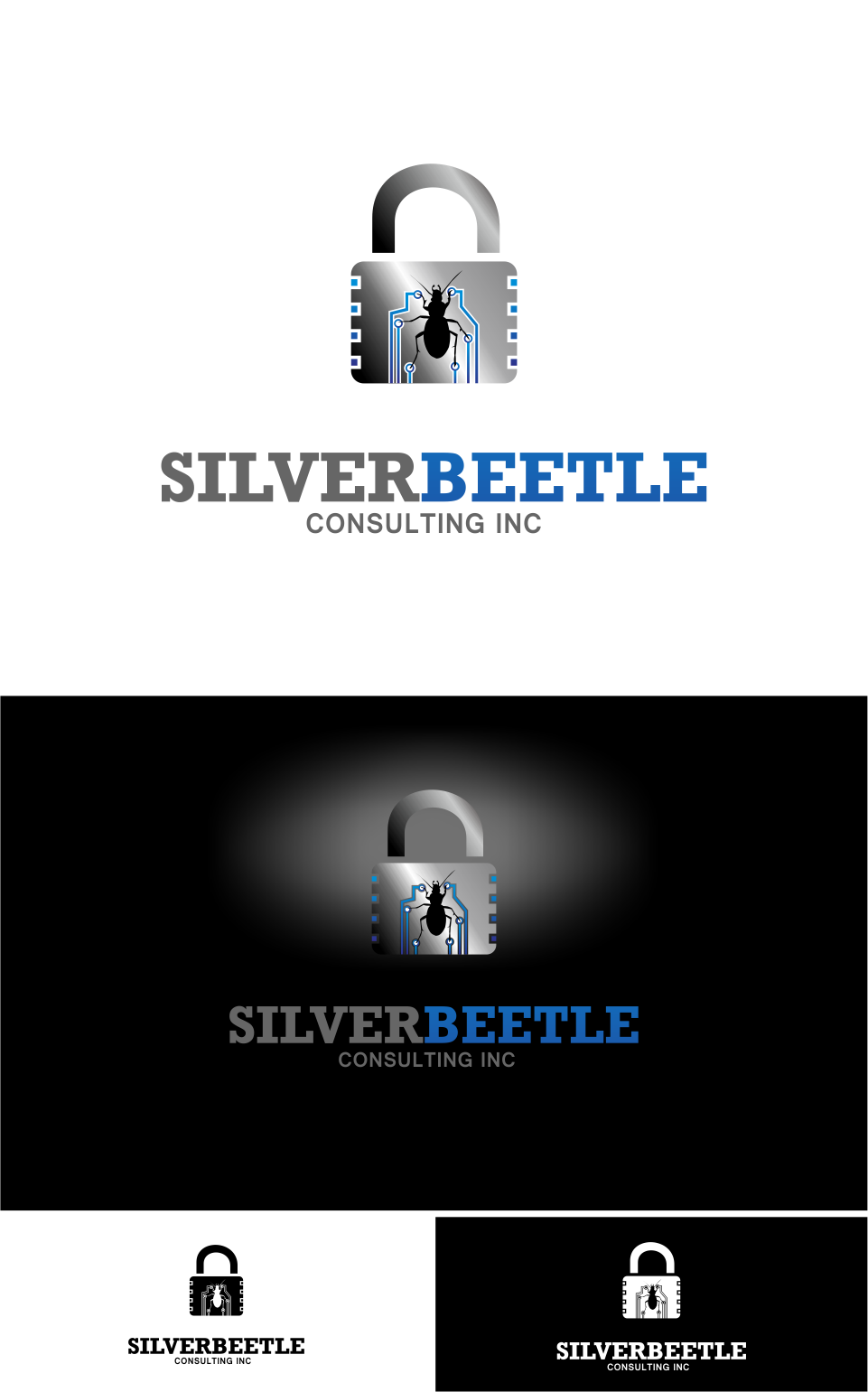 Logo Design by Mitchnick Sunardi - Entry No. 35 in the Logo Design Contest Silver Beetle Consulting Inc. Logo Design.