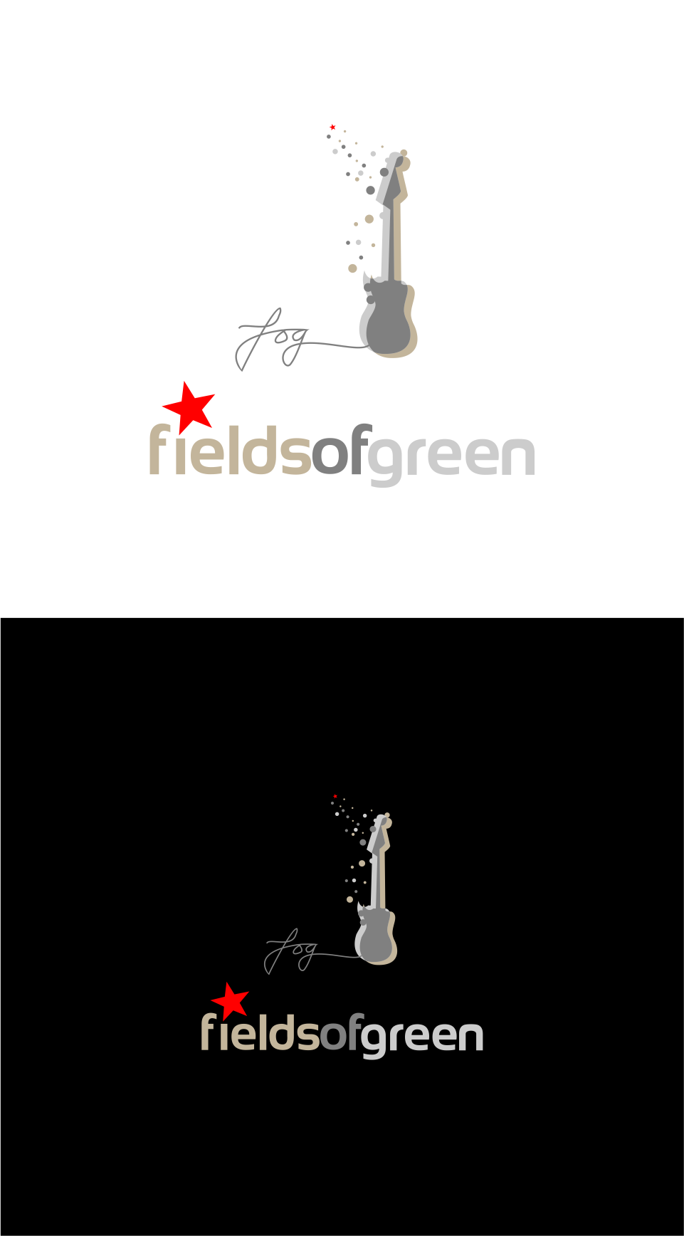 Logo Design by Mitchnick Sunardi - Entry No. 95 in the Logo Design Contest Psych-Rock Band FIELDS OF GREEN Logo Design.