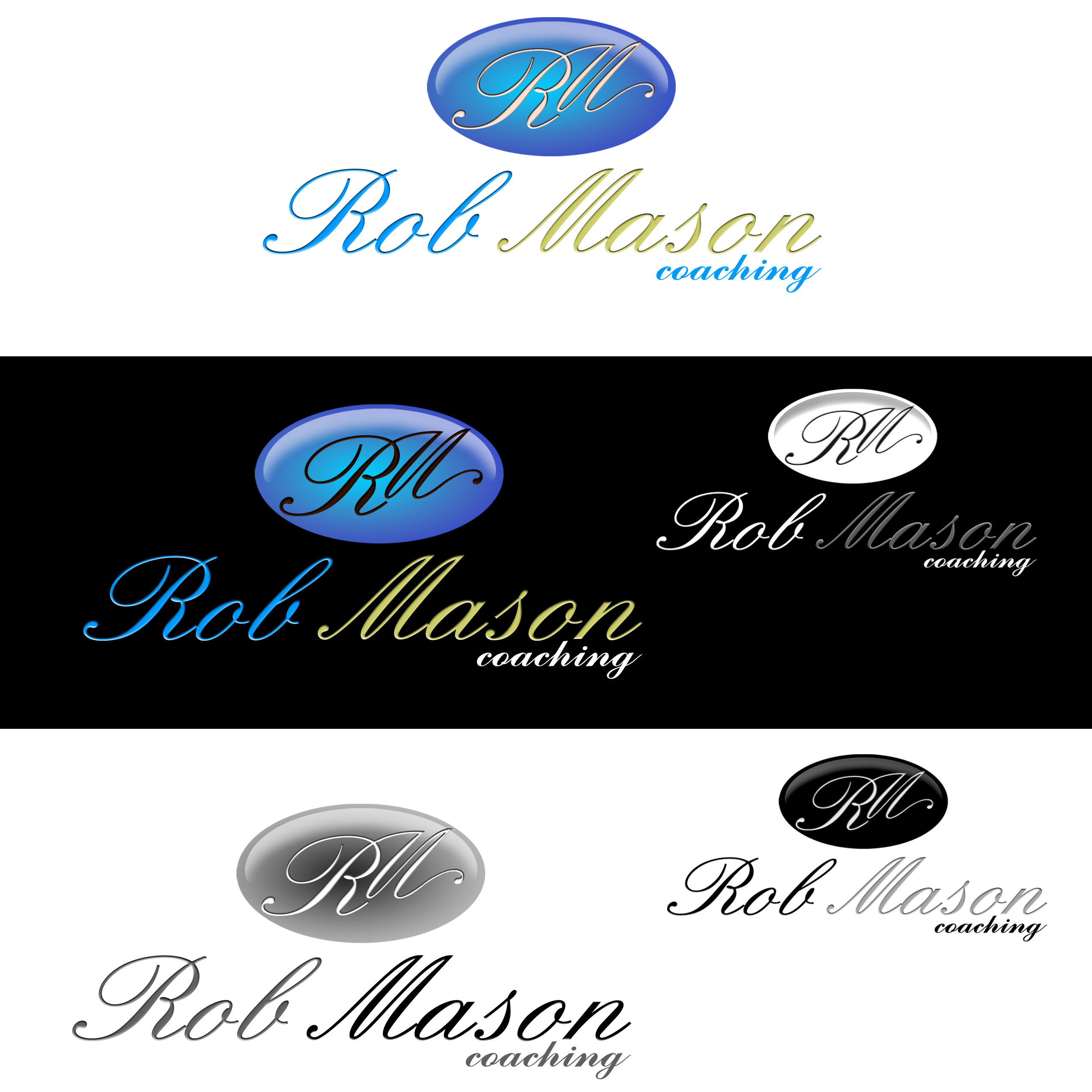 Logo Design by omARTist - Entry No. 100 in the Logo Design Contest New Logo Design Needed for Exciting Company Rob Mason Coaching.