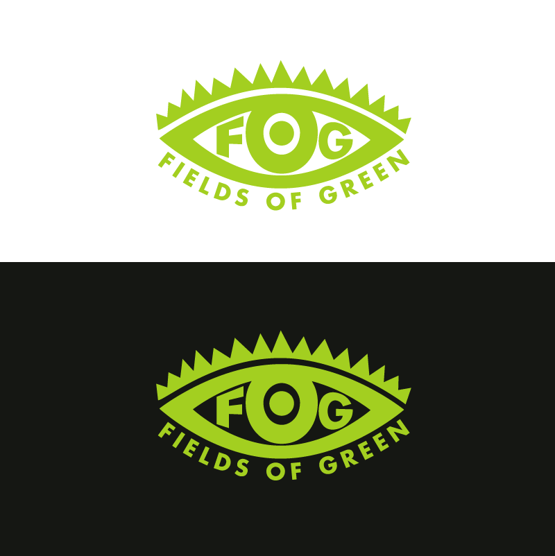 Logo Design by Peter Grubb - Entry No. 100 in the Logo Design Contest Psych-Rock Band FIELDS OF GREEN Logo Design.