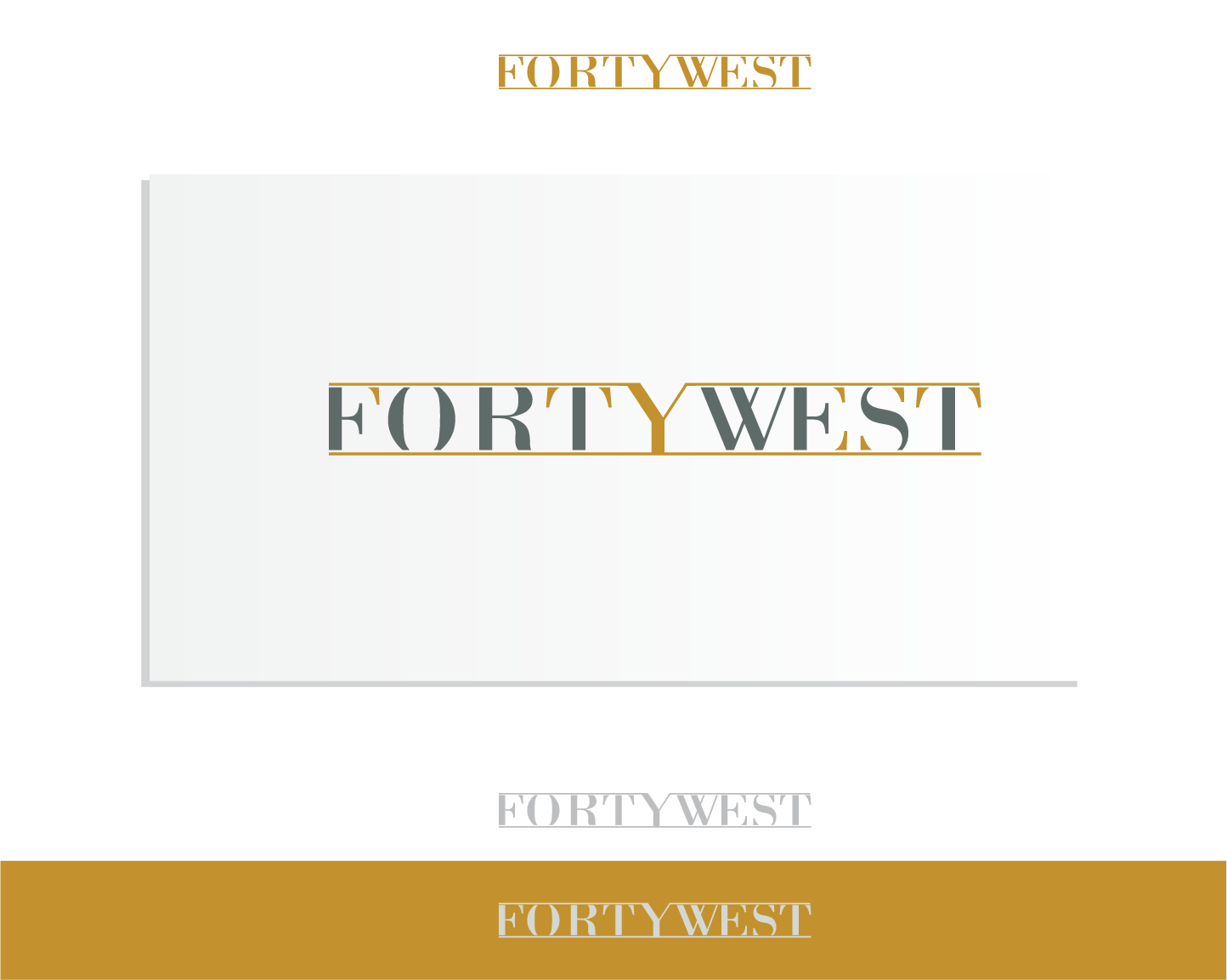 Logo Design by Andi Muhtasyam - Entry No. 107 in the Logo Design Contest Unique Logo Design Wanted for Forty West.