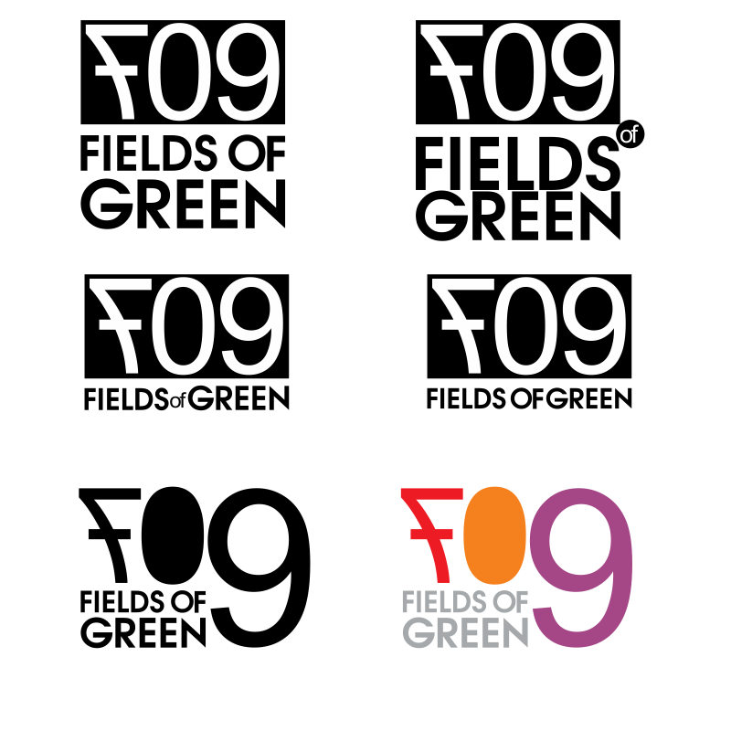 Logo Design by moisesf - Entry No. 105 in the Logo Design Contest Psych-Rock Band FIELDS OF GREEN Logo Design.