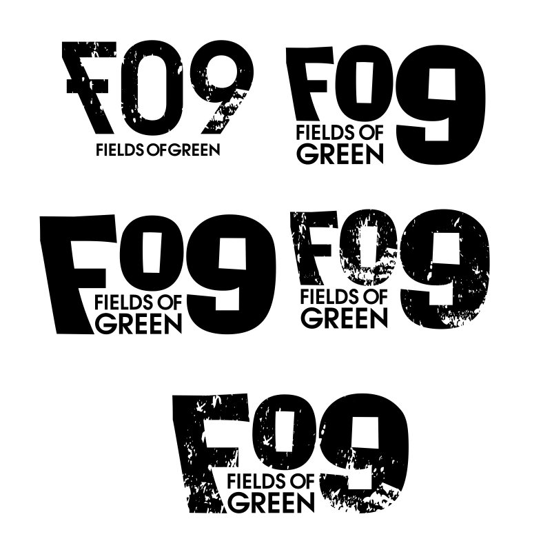 Logo Design by moisesf - Entry No. 108 in the Logo Design Contest Psych-Rock Band FIELDS OF GREEN Logo Design.