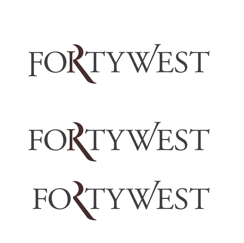 Logo Design by moisesf - Entry No. 132 in the Logo Design Contest Unique Logo Design Wanted for Forty West.