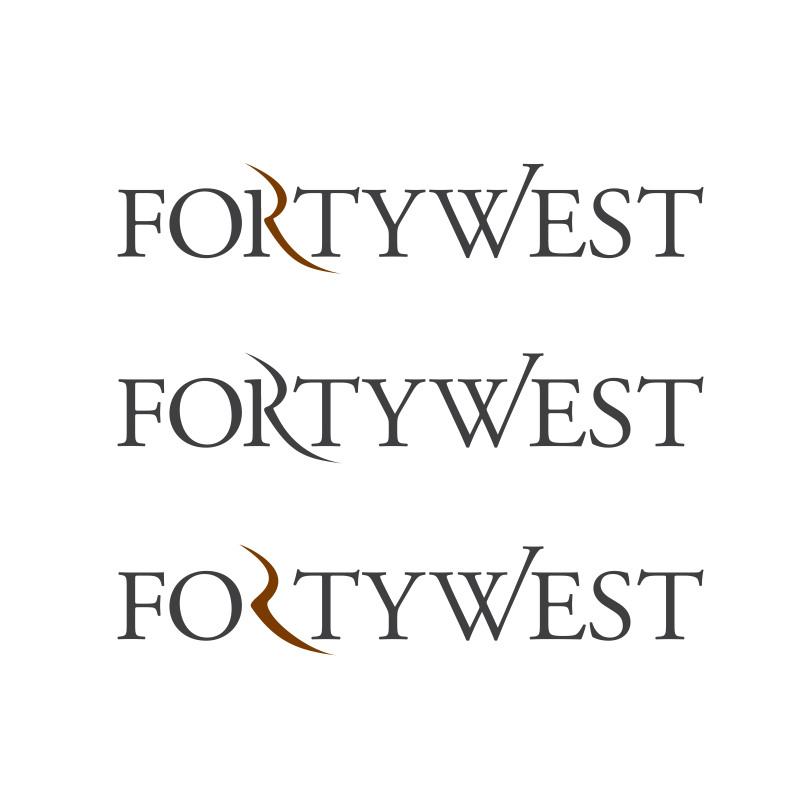Logo Design by moisesf - Entry No. 135 in the Logo Design Contest Unique Logo Design Wanted for Forty West.