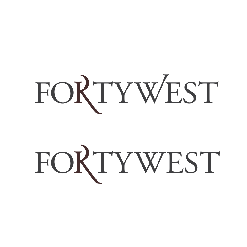 Logo Design by moisesf - Entry No. 138 in the Logo Design Contest Unique Logo Design Wanted for Forty West.