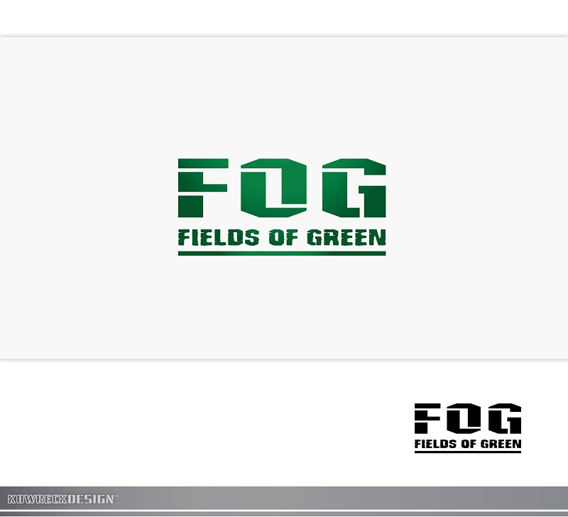 Logo Design by kowreck - Entry No. 132 in the Logo Design Contest Psych-Rock Band FIELDS OF GREEN Logo Design.