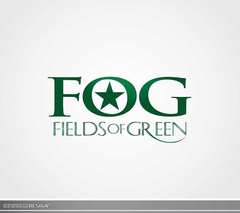Logo Design by kowreck - Entry No. 134 in the Logo Design Contest Psych-Rock Band FIELDS OF GREEN Logo Design.