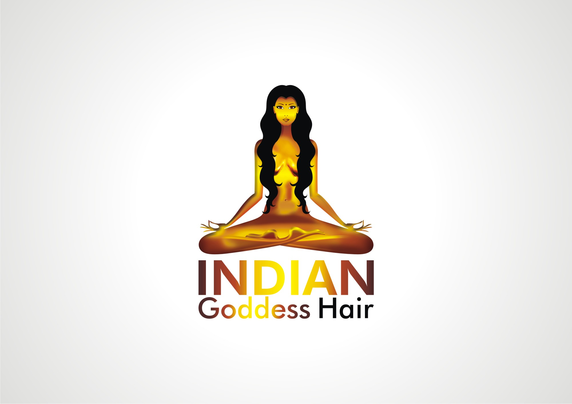 Logo Design by Private User - Entry No. 27 in the Logo Design Contest Indian Goddess Hair LOGO DESIGN.