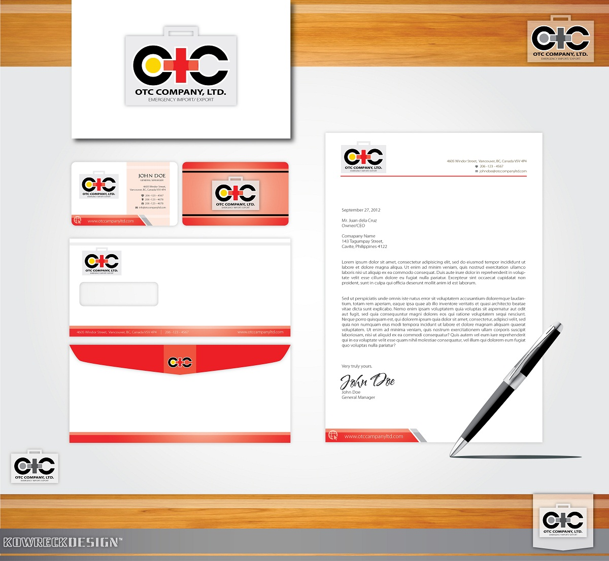 Logo Design by kowreck - Entry No. 16 in the Logo Design Contest Unique Logo Design Wanted for OTC Co.,Ltd..