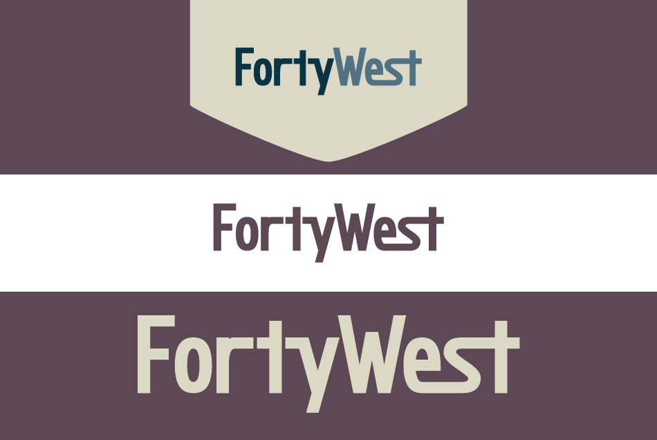 Logo Design by Dipin Bishwakarma - Entry No. 163 in the Logo Design Contest Unique Logo Design Wanted for Forty West.