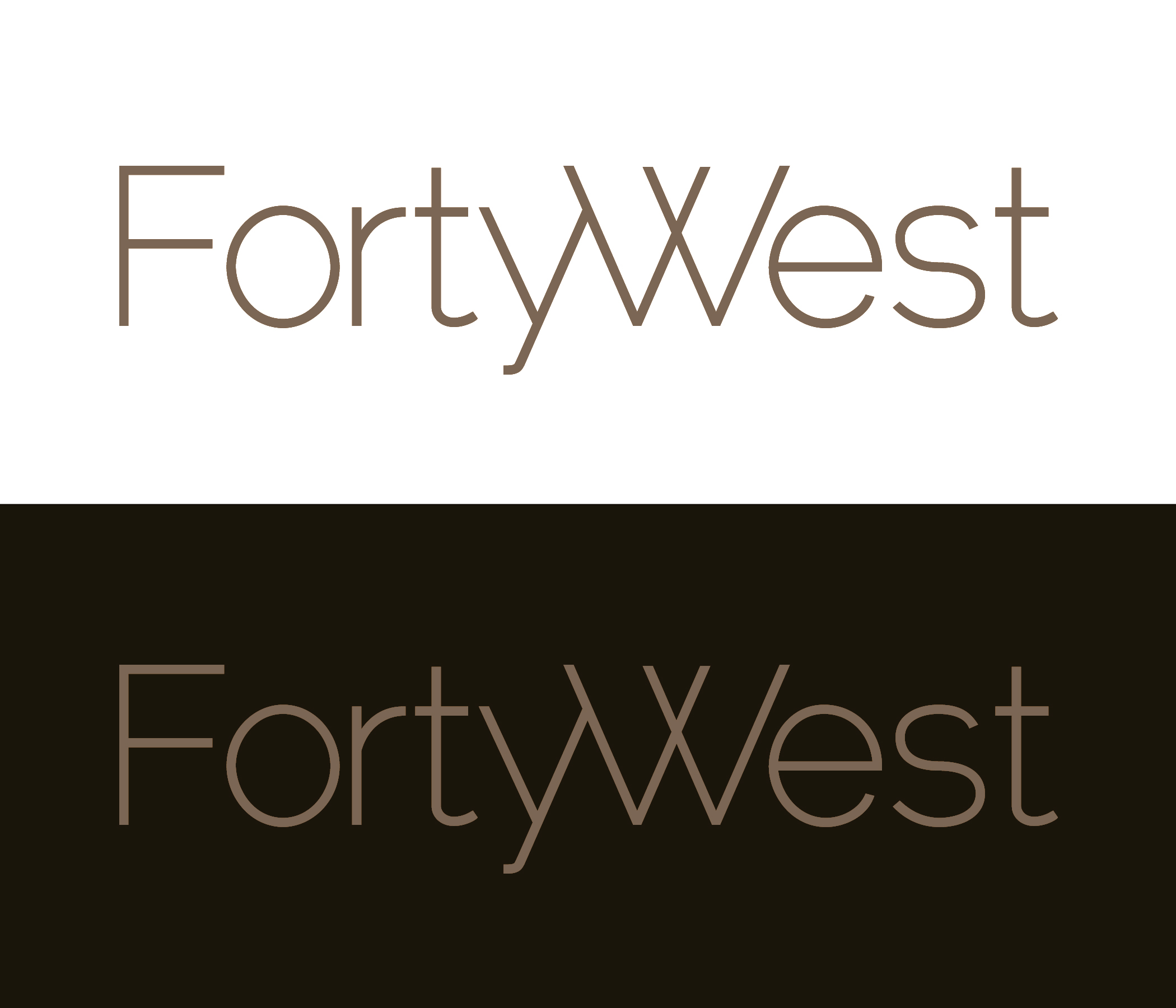 Logo Design by moidgreat - Entry No. 167 in the Logo Design Contest Unique Logo Design Wanted for Forty West.