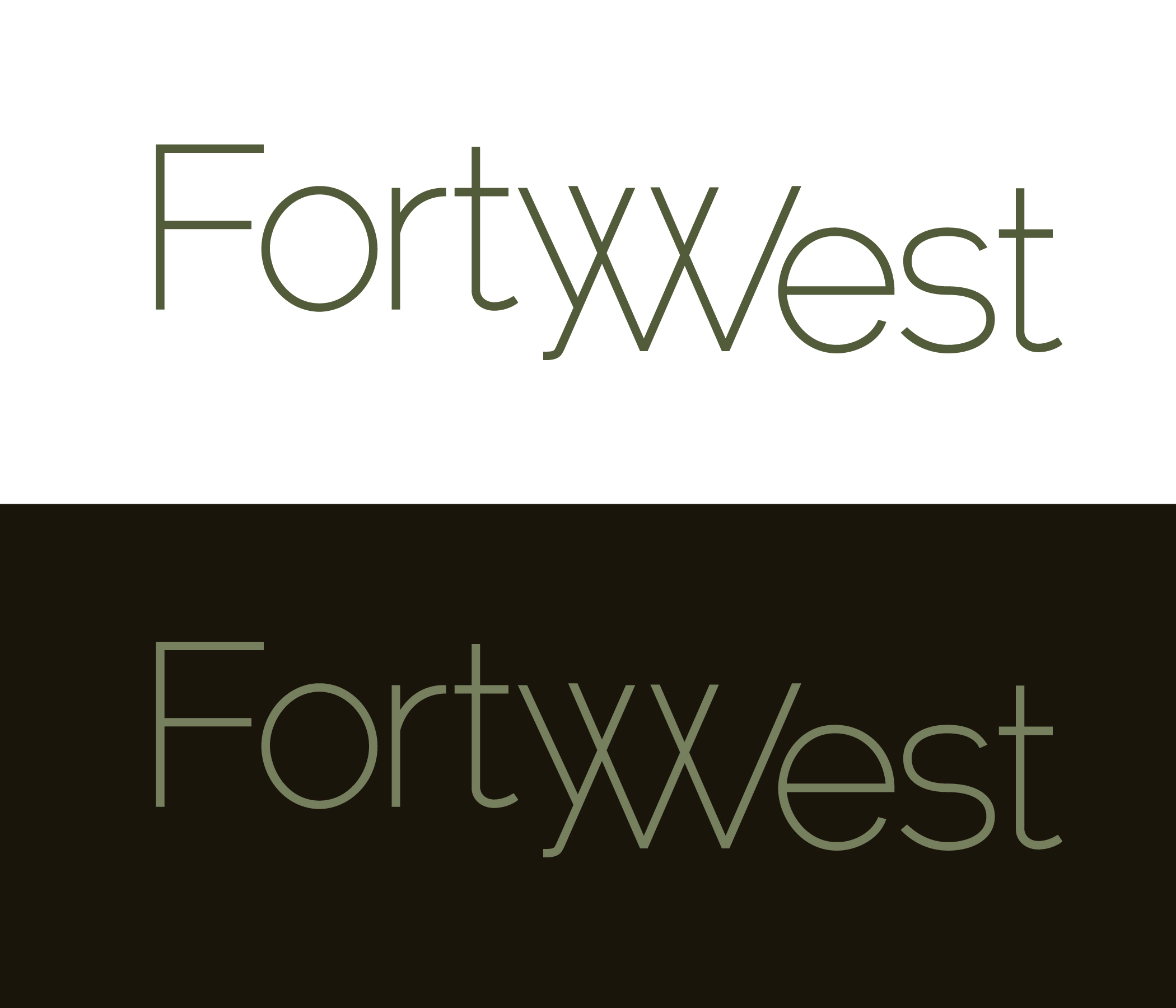 Logo Design by moidgreat - Entry No. 168 in the Logo Design Contest Unique Logo Design Wanted for Forty West.