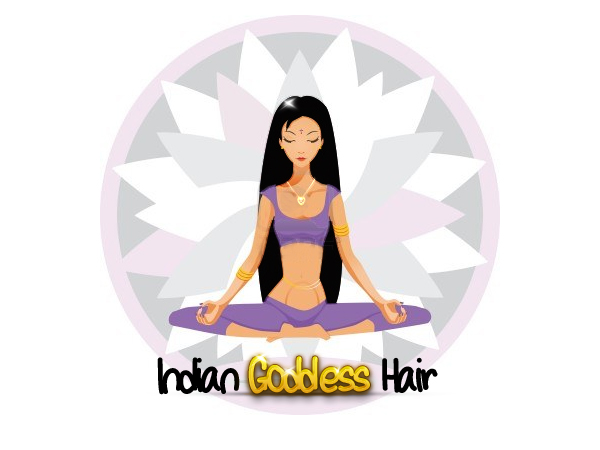 Logo Design by Private User - Entry No. 29 in the Logo Design Contest Indian Goddess Hair LOGO DESIGN.